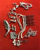 Vintage Antique Rhinestone Jewelry