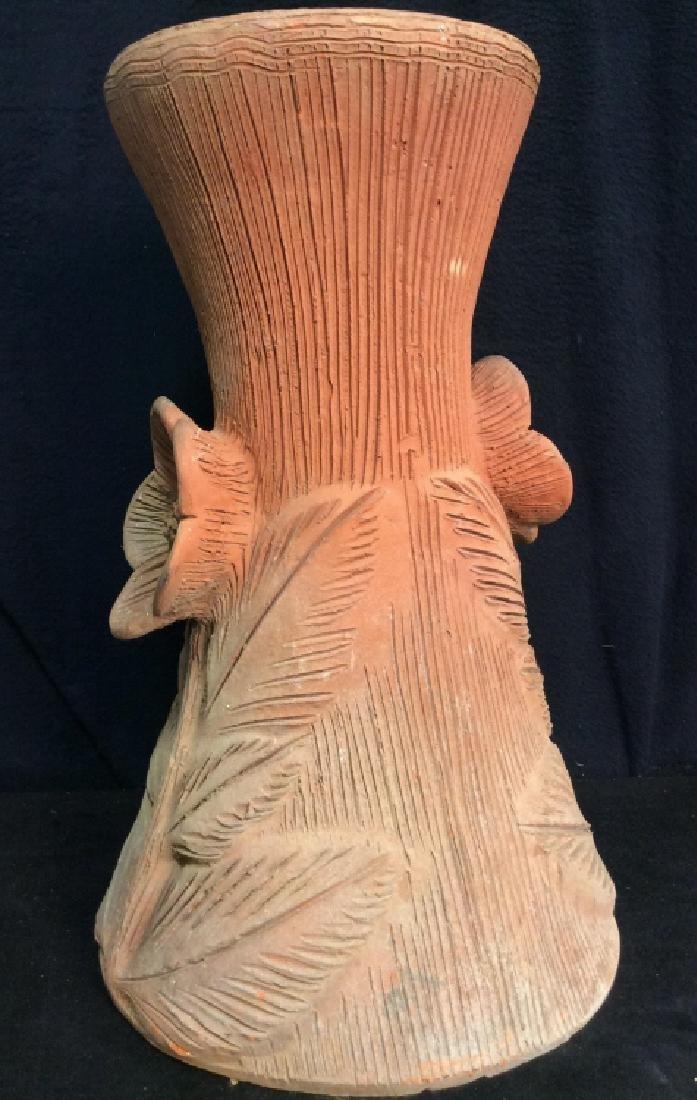 Vintage Terra Cotta Planter Pedestal
