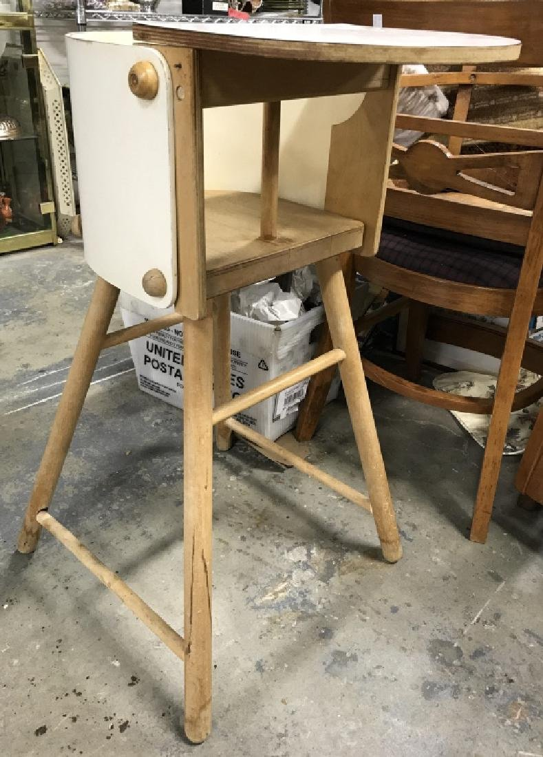 Vintage Wooden Baby High Chair