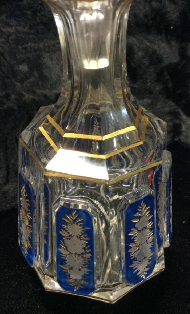 Lot 3 Vintage Glass Perfume Bottles & More - 3