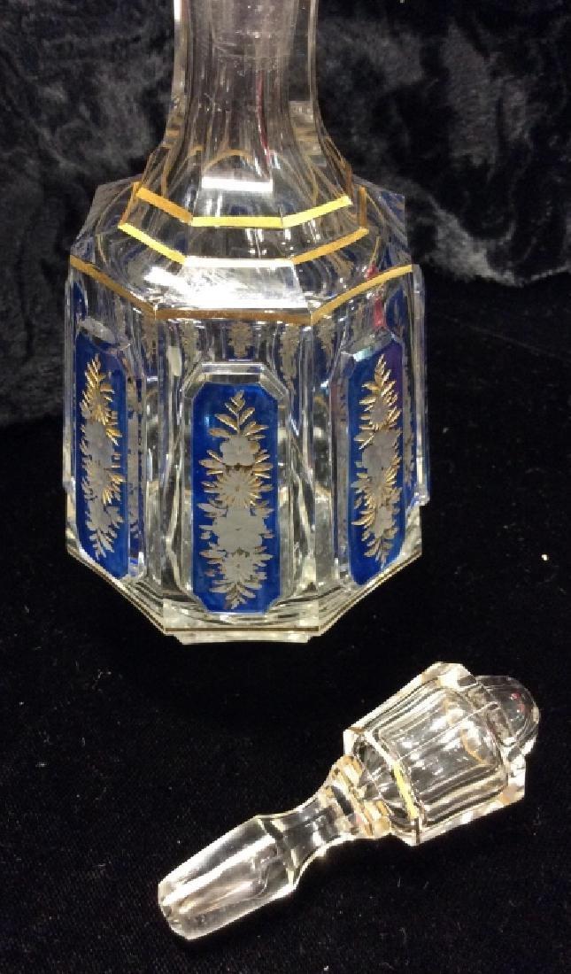 Lot 3 Vintage Glass Perfume Bottles & More - 5