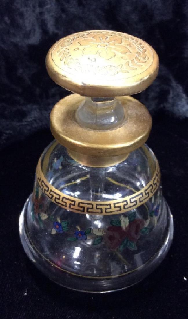 Lot 3 Vintage Glass Perfume Bottles & More - 9