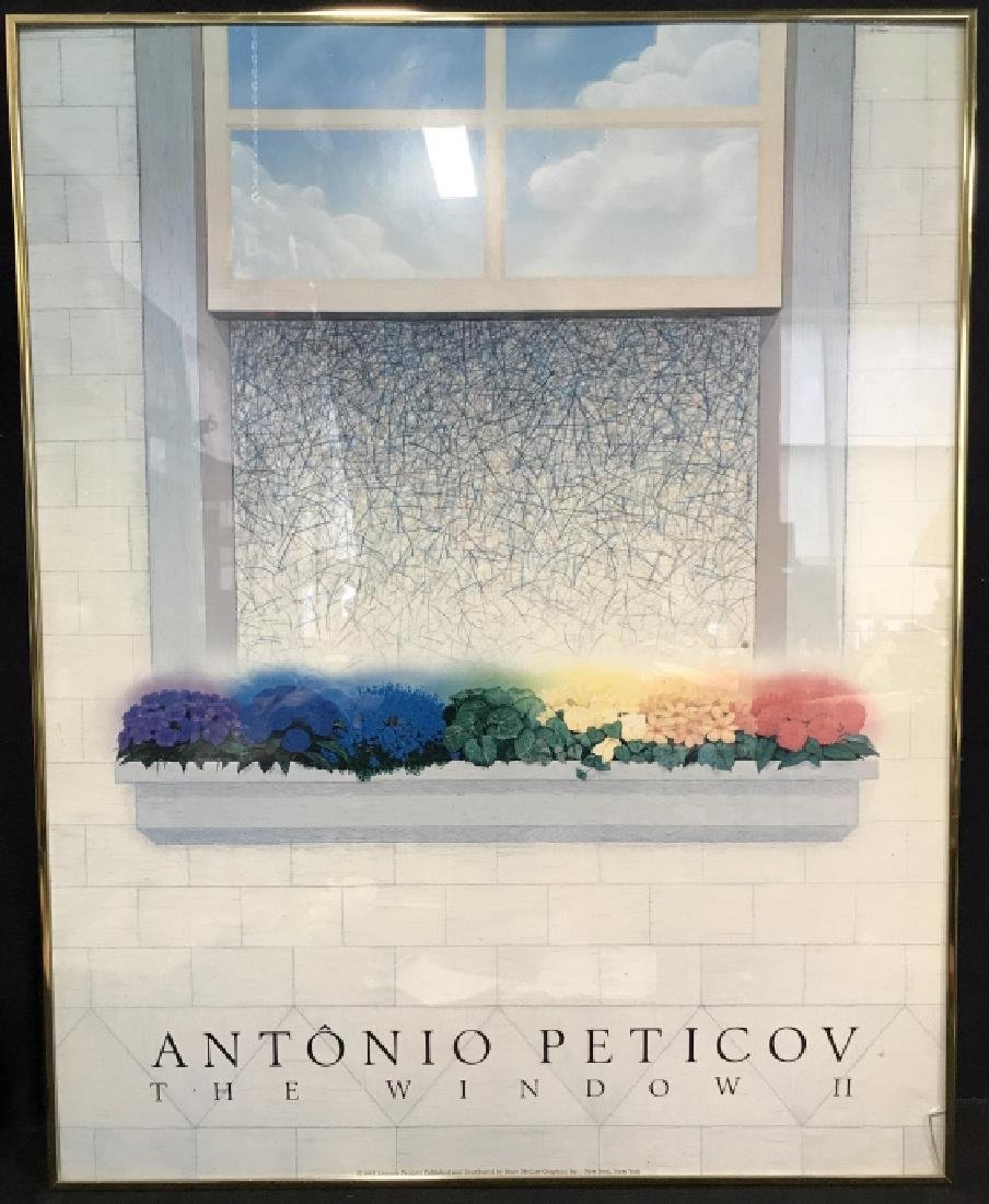 Framed Poster Print Antonio Peticov The Window