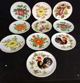 Set 10 Italian Hand Painted Plates