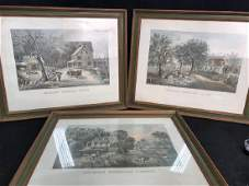 Set3 CurrierIves American Homestead Prints