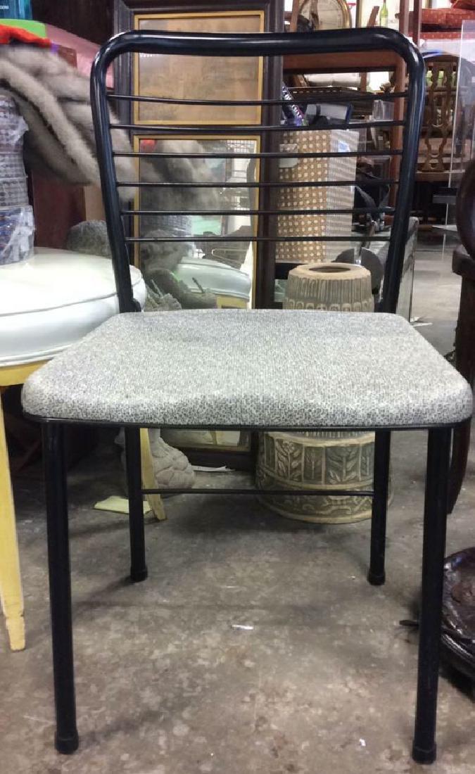 Lot 2 Metal Black Frame Chairs