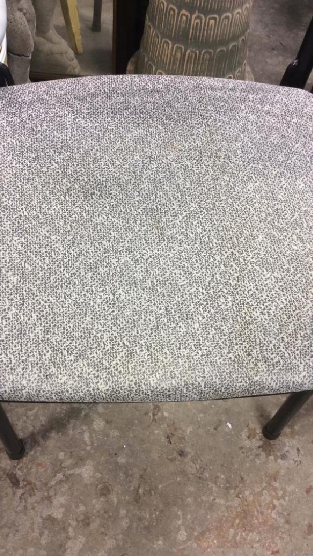Lot 2 Metal Black Frame Chairs - 3