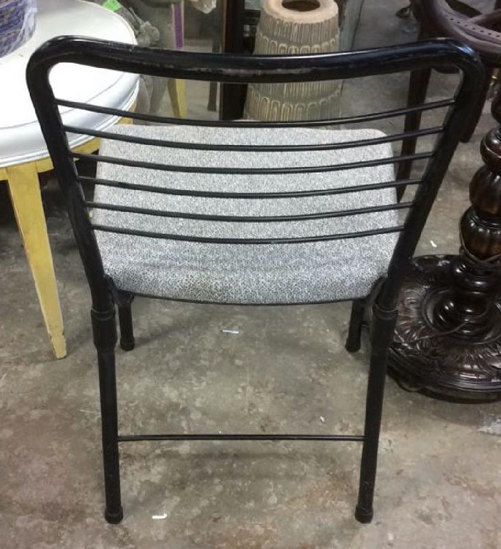 Lot 2 Metal Black Frame Chairs - 4