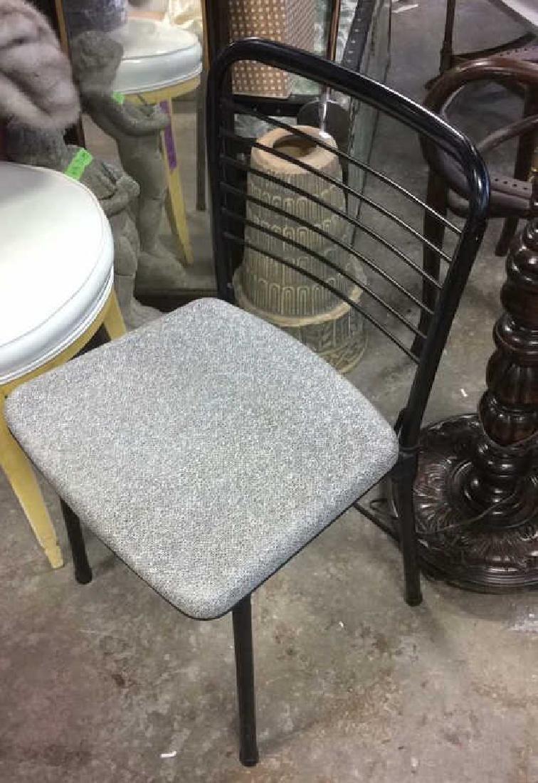 Lot 2 Metal Black Frame Chairs - 6