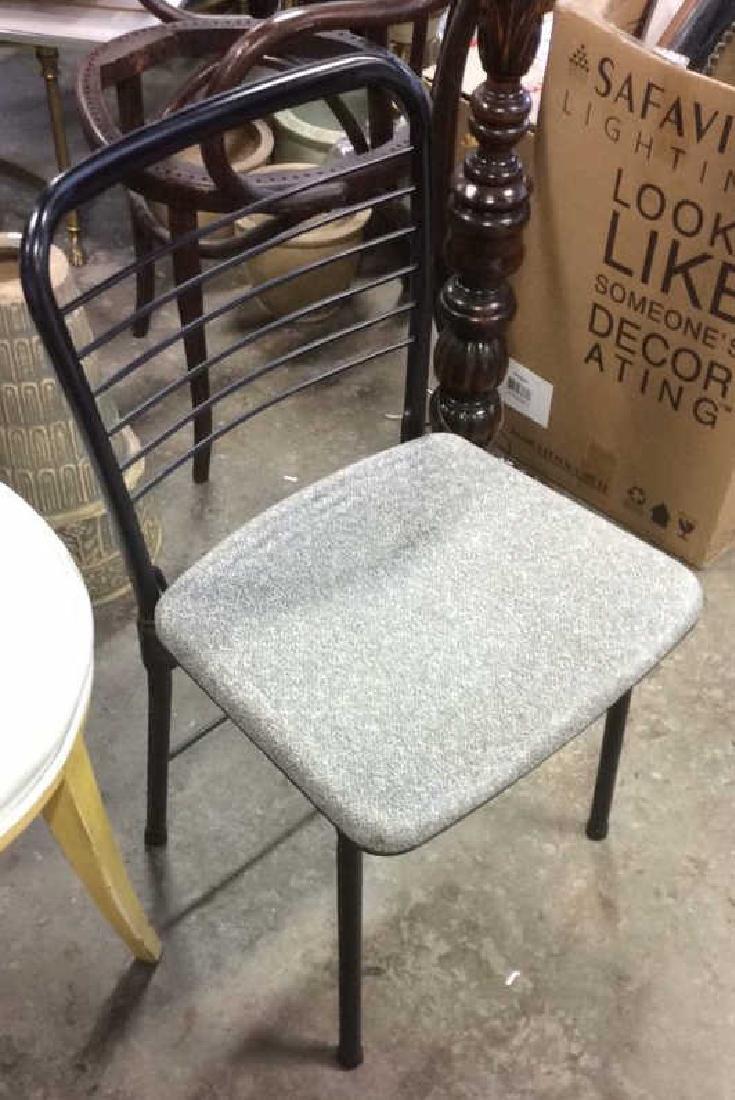 Lot 2 Metal Black Frame Chairs - 7