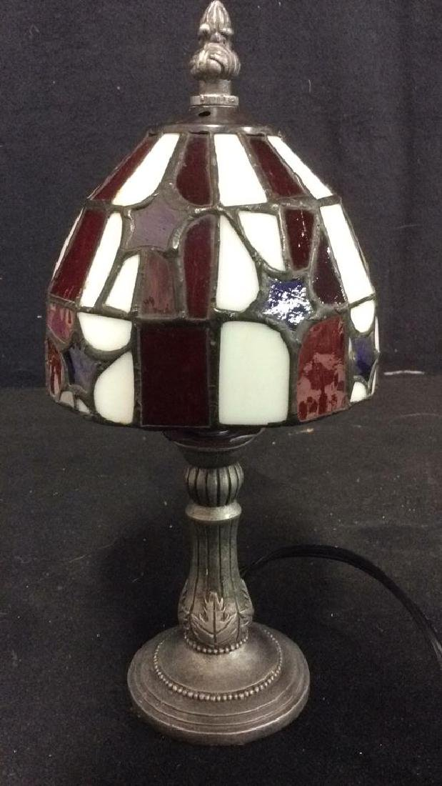 Stained Glass Shade Desk Lamp