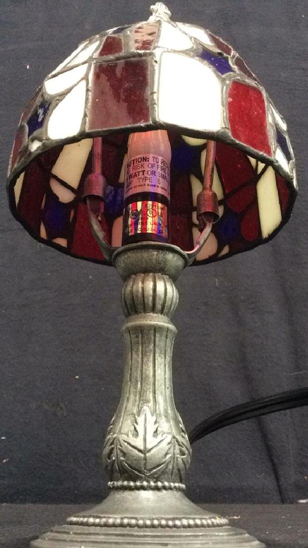 Stained Glass Shade Desk Lamp - 5