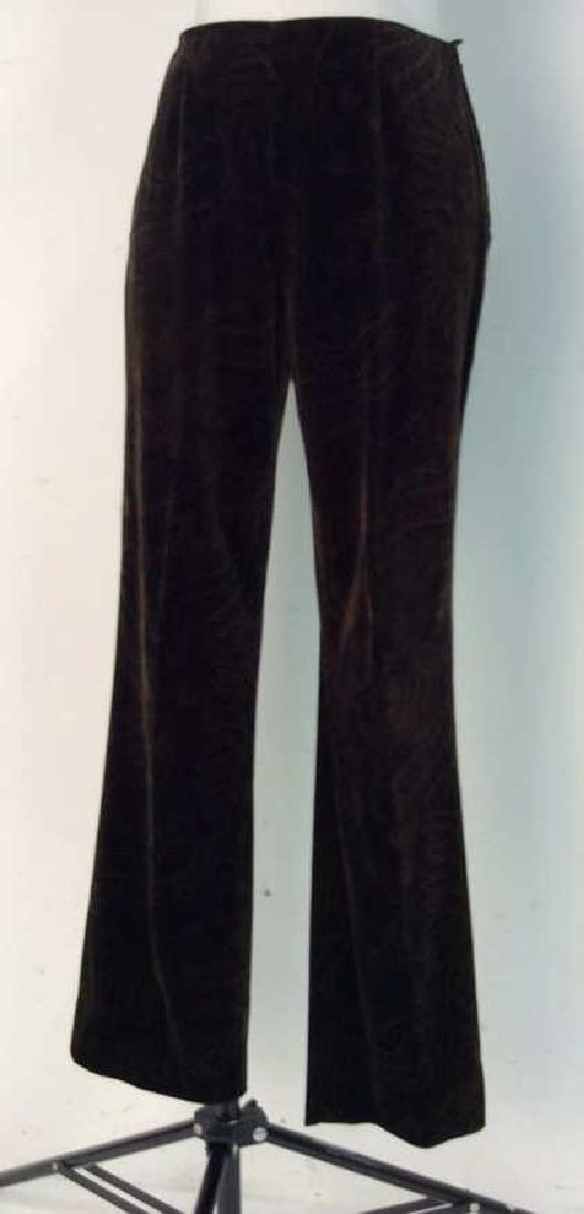 RALPH LAUREN Cotton Floral Filigree Pants - 2