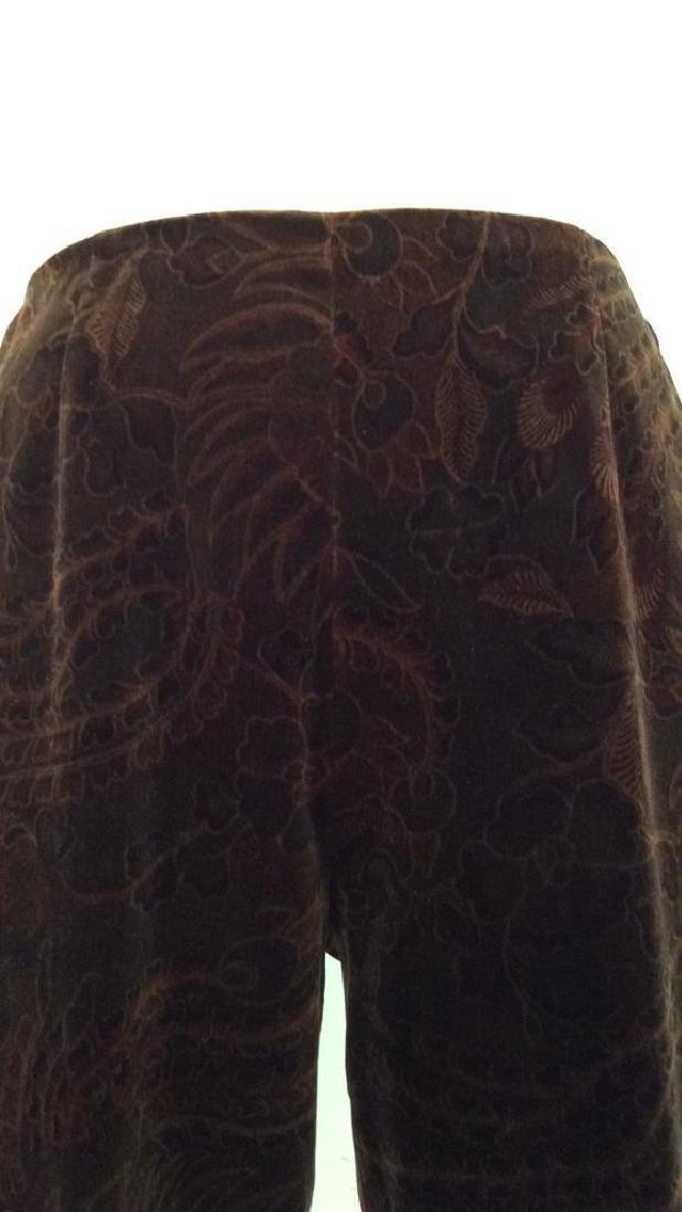 RALPH LAUREN Cotton Floral Filigree Pants - 4