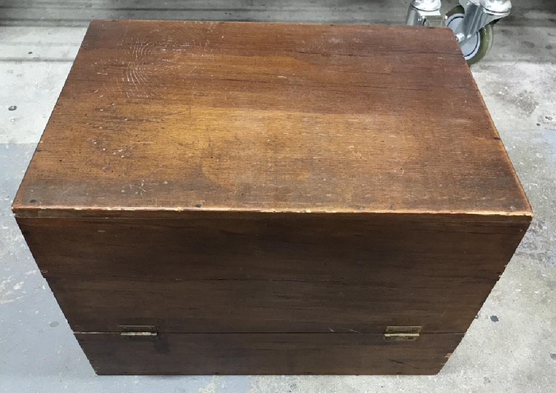 Wooden Chest File Box