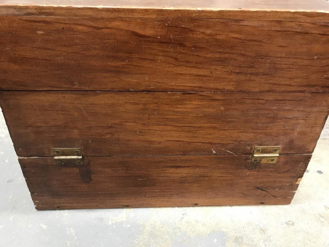Wooden Chest File Box - 2