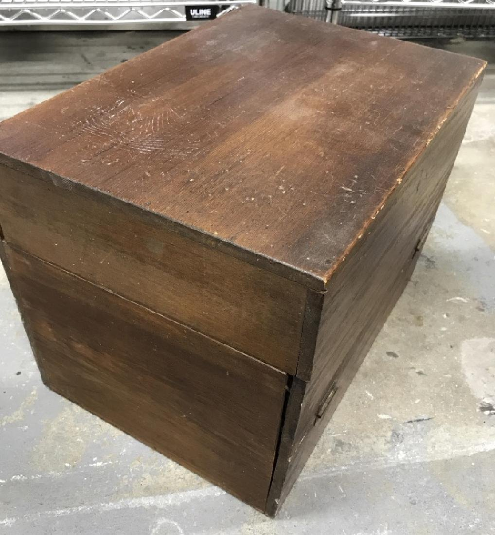 Wooden Chest File Box - 3