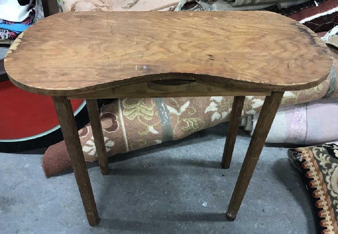 Vintage Wood Vanity Table