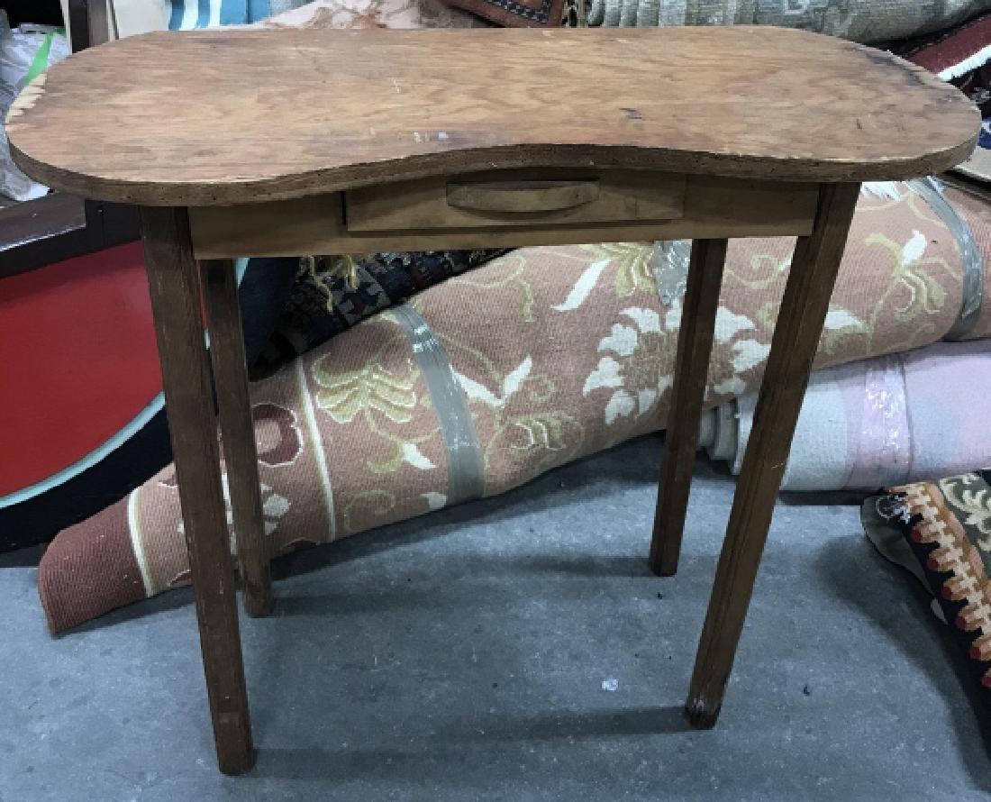 Vintage Wood Vanity Table - 2