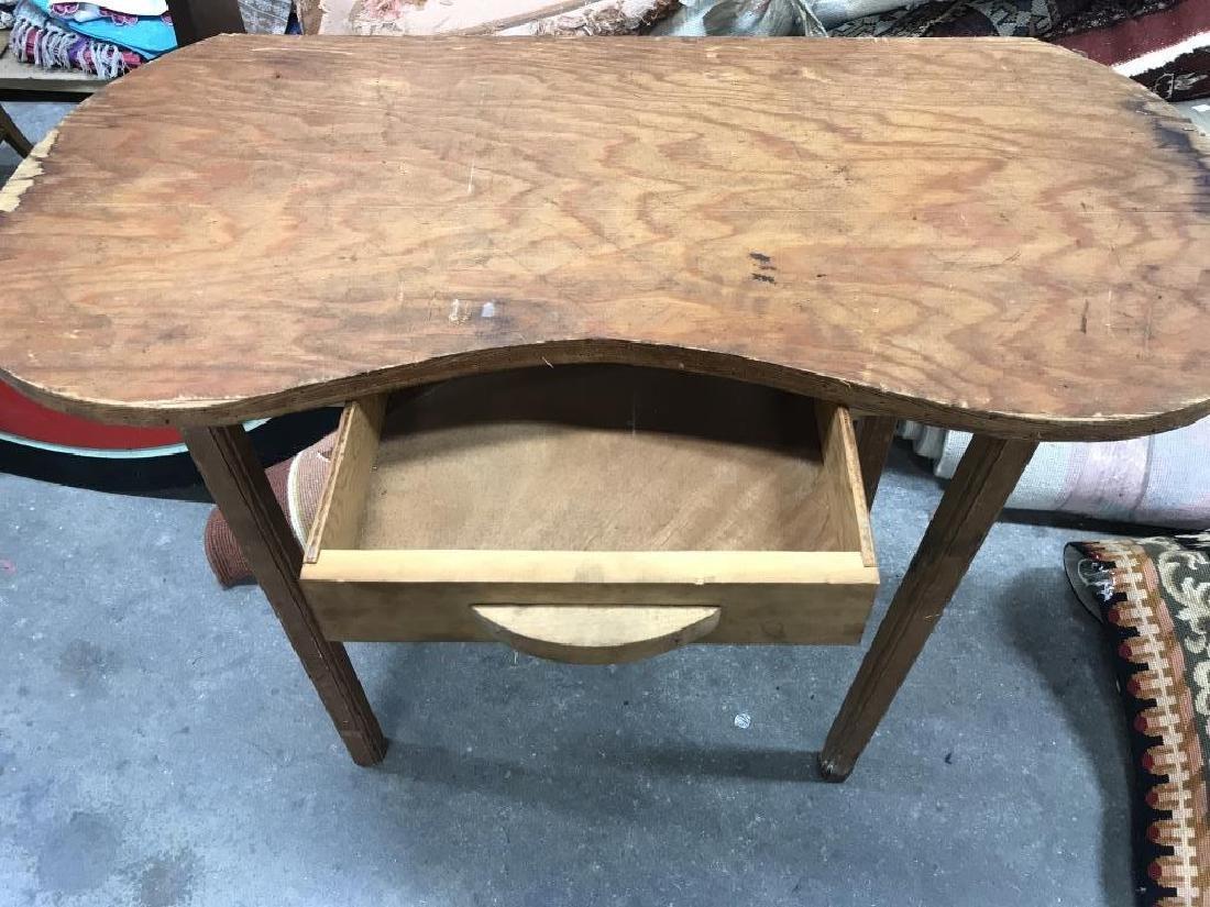 Vintage Wood Vanity Table - 4
