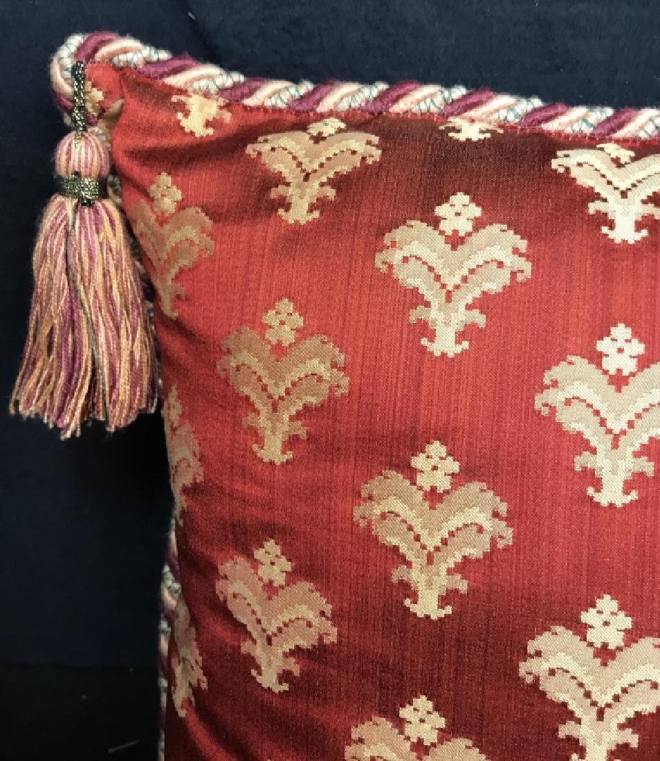 Pair Decorator Silk Toss Pillows - 3