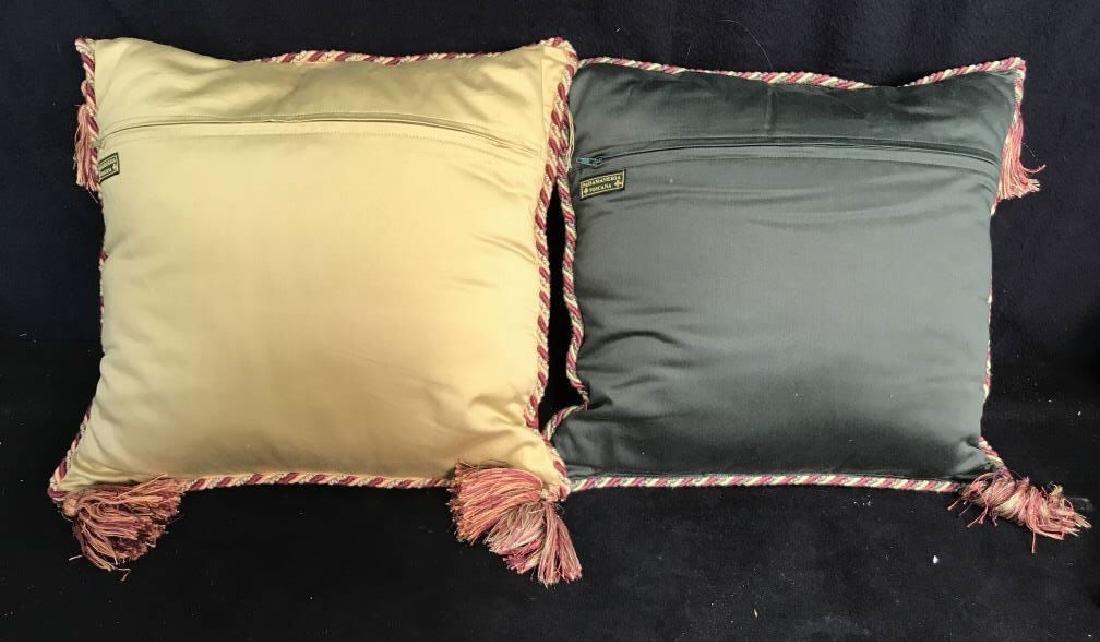 Pair Decorator Silk Toss Pillows - 7