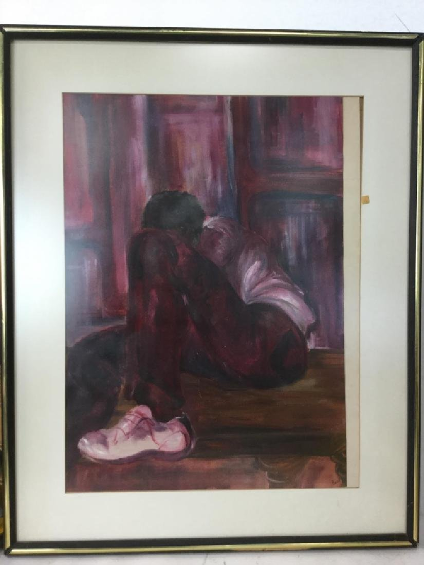 Signed Framed Painting on Paper
