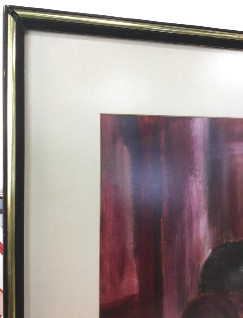 Signed Framed Painting on Paper - 4