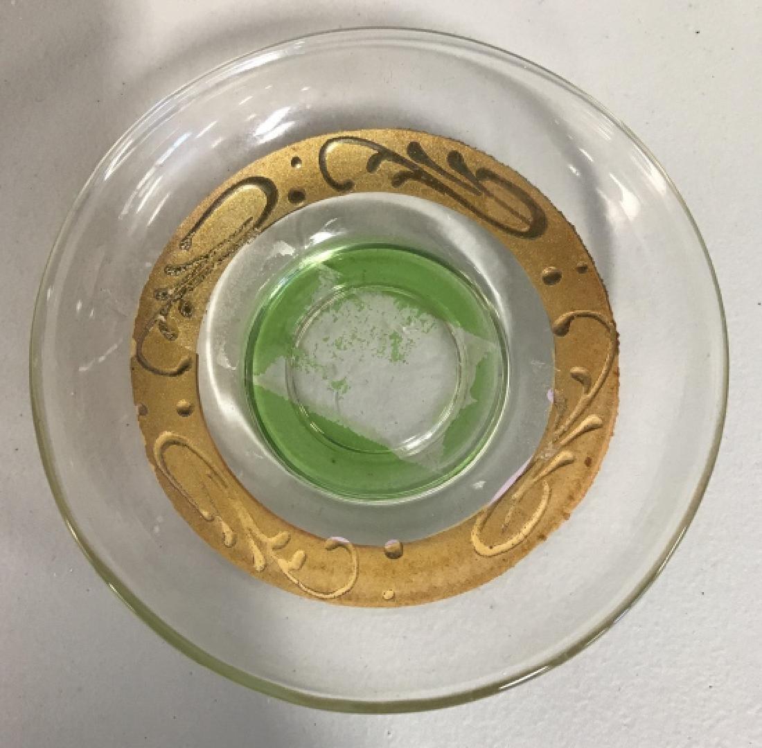Set 12 Green & Gold Toned Bohemian Cordial Glasses - 4