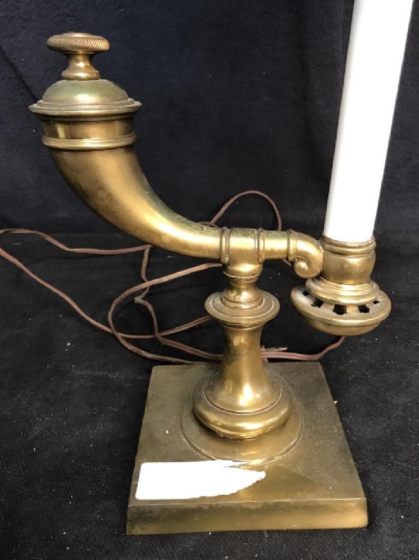 Vintage Brass Horn Form Lamp