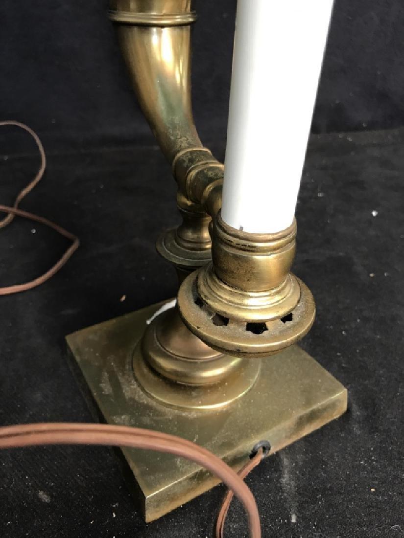 Vintage Brass Horn Form Lamp - 5