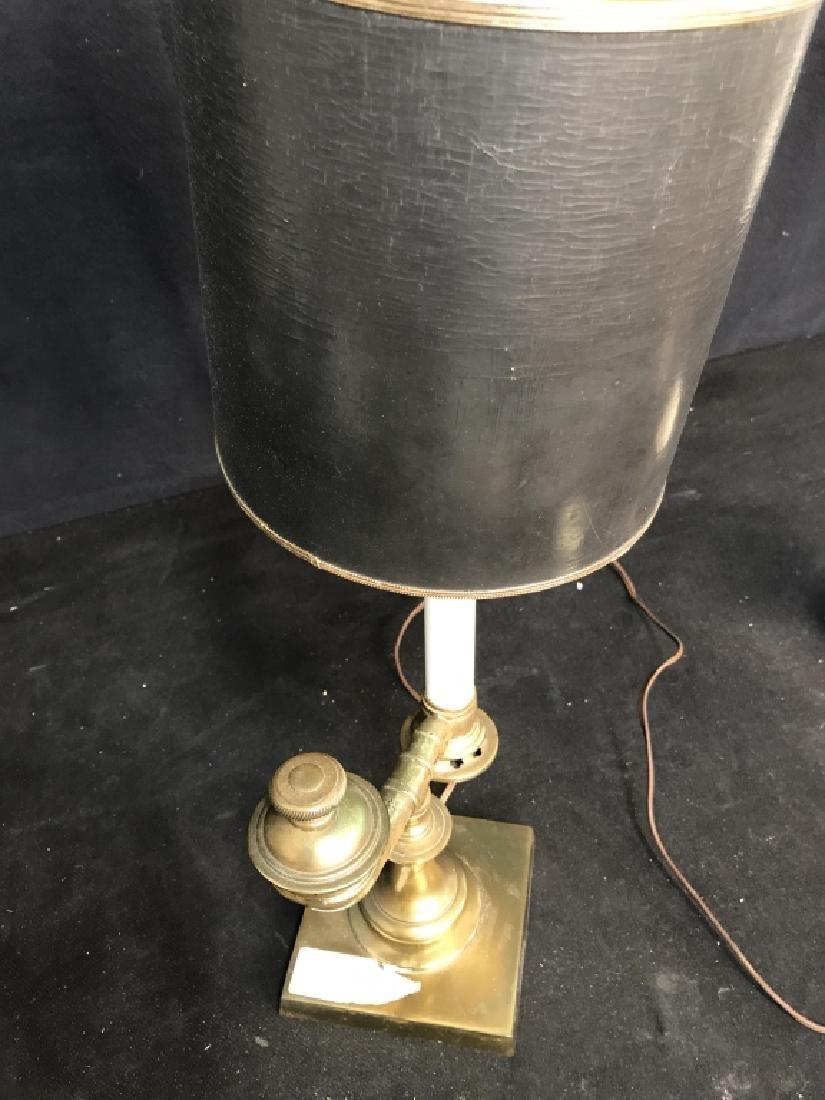 Vintage Brass Horn Form Lamp - 8