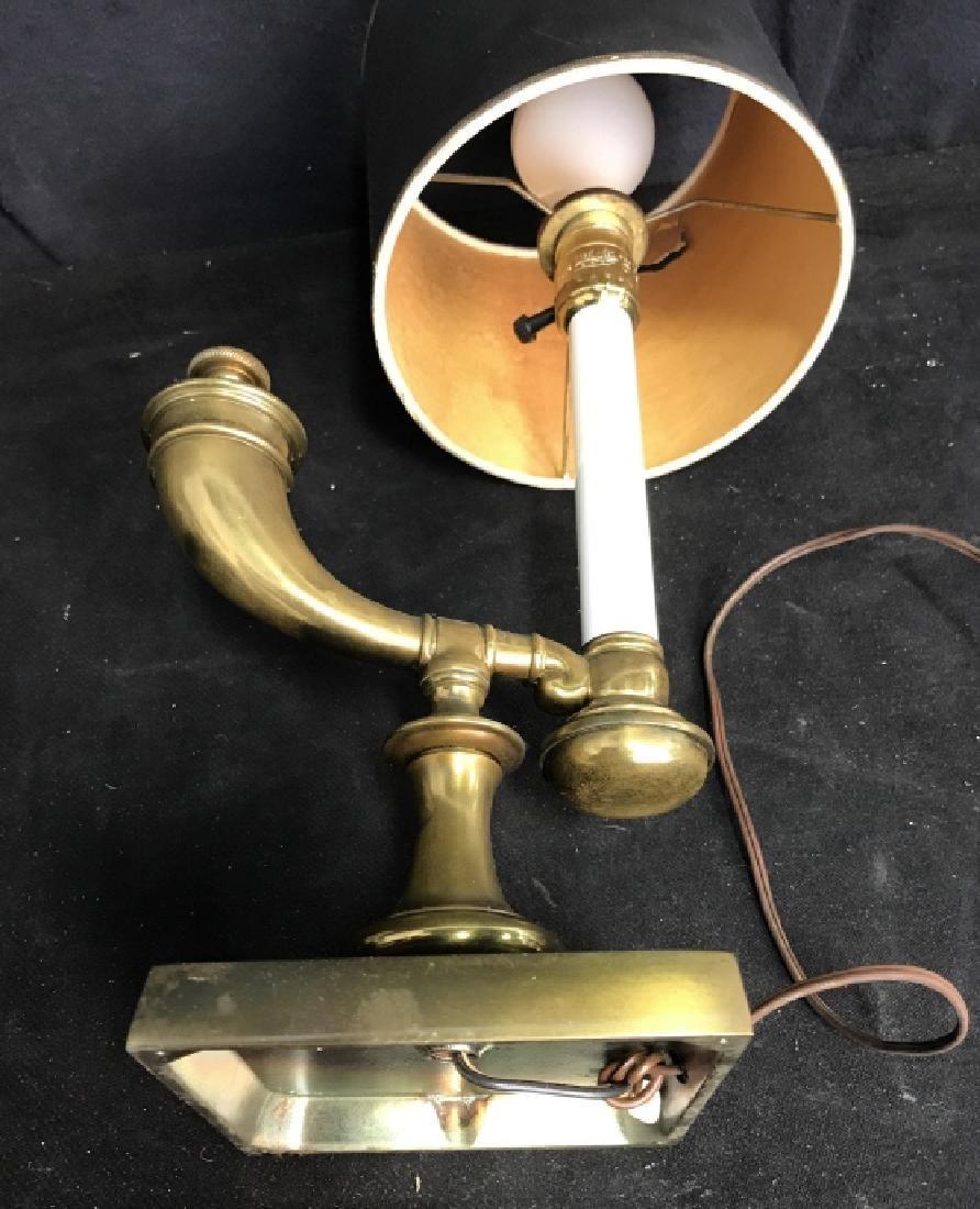 Vintage Brass Horn Form Lamp - 9