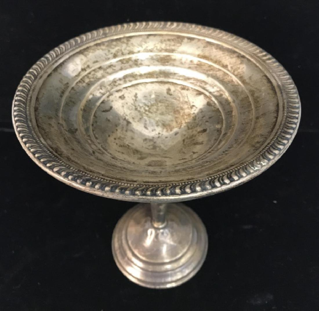 Vintage Sterling Weighted Pedestal Candy Dish - 2