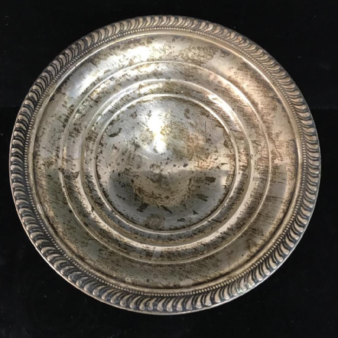 Vintage Sterling Weighted Pedestal Candy Dish - 5