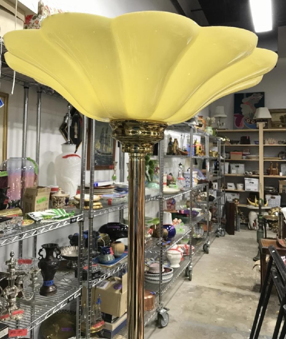 Gold Toned Metal Floor Lamp