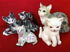 Lot 4 Cat Figurals Decorative Tabletop Decor