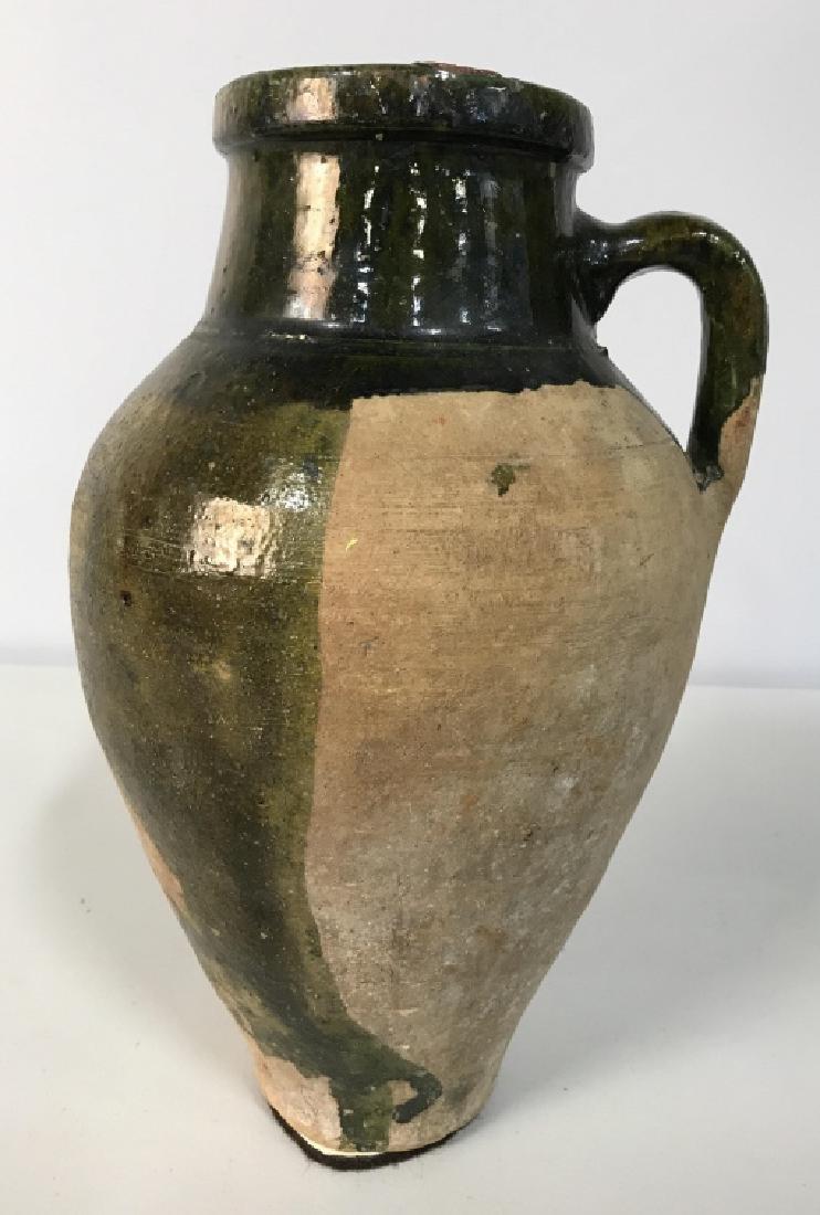 Vintage Glazed French Ceramic Jug