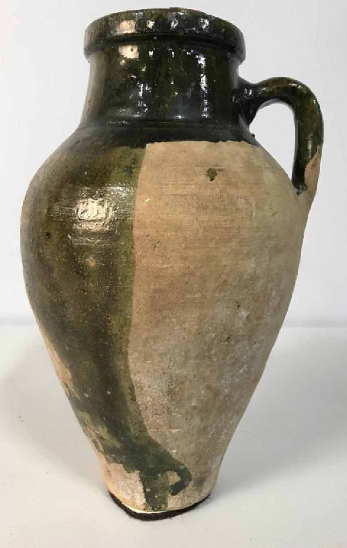 Vintage Glazed French Ceramic Jug - 2