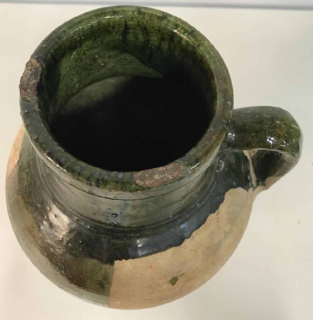 Vintage Glazed French Ceramic Jug - 3