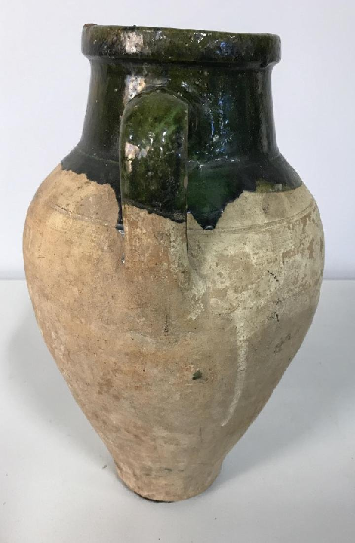 Vintage Glazed French Ceramic Jug - 8