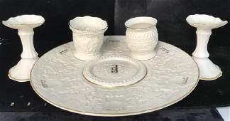 Lot 5 Porcelain LENOX Tabletop Accessories