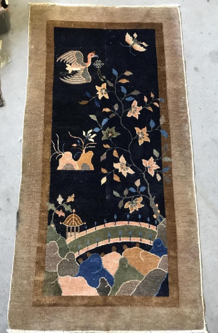Chinese Art Deco Hand Made Wool Carpet - 3