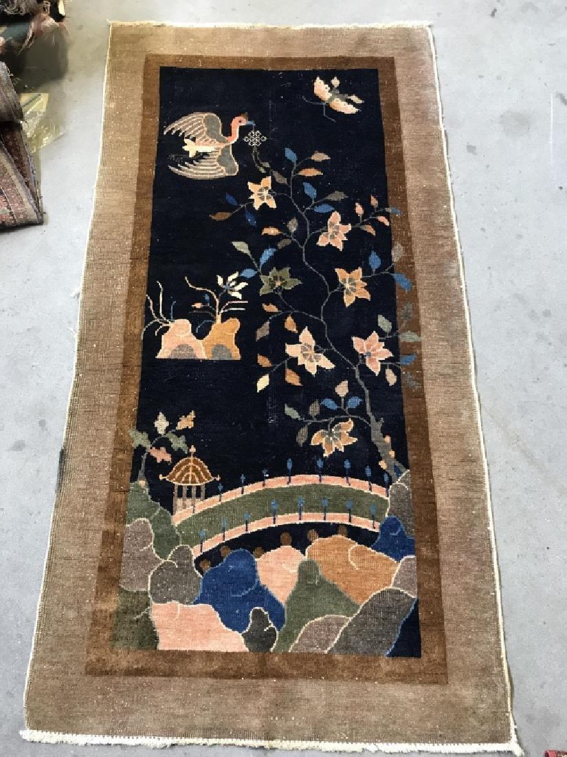 Chinese Art Deco Hand Made Wool Carpet - 4