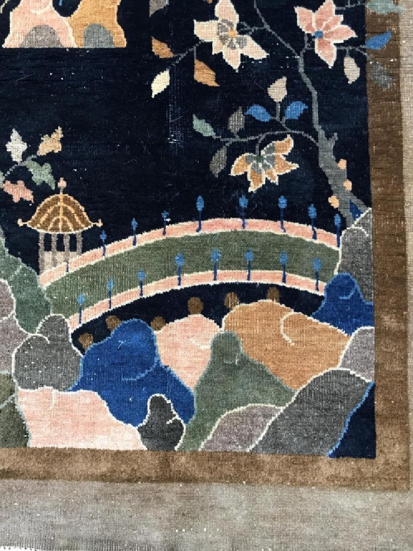 Chinese Art Deco Hand Made Wool Carpet - 5