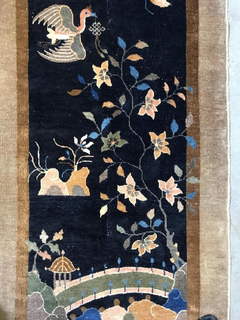 Chinese Art Deco Hand Made Wool Carpet - 7