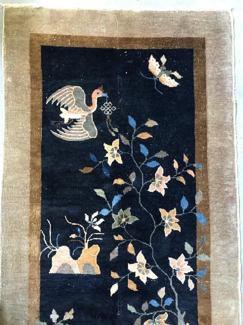 Chinese Art Deco Hand Made Wool Carpet - 8