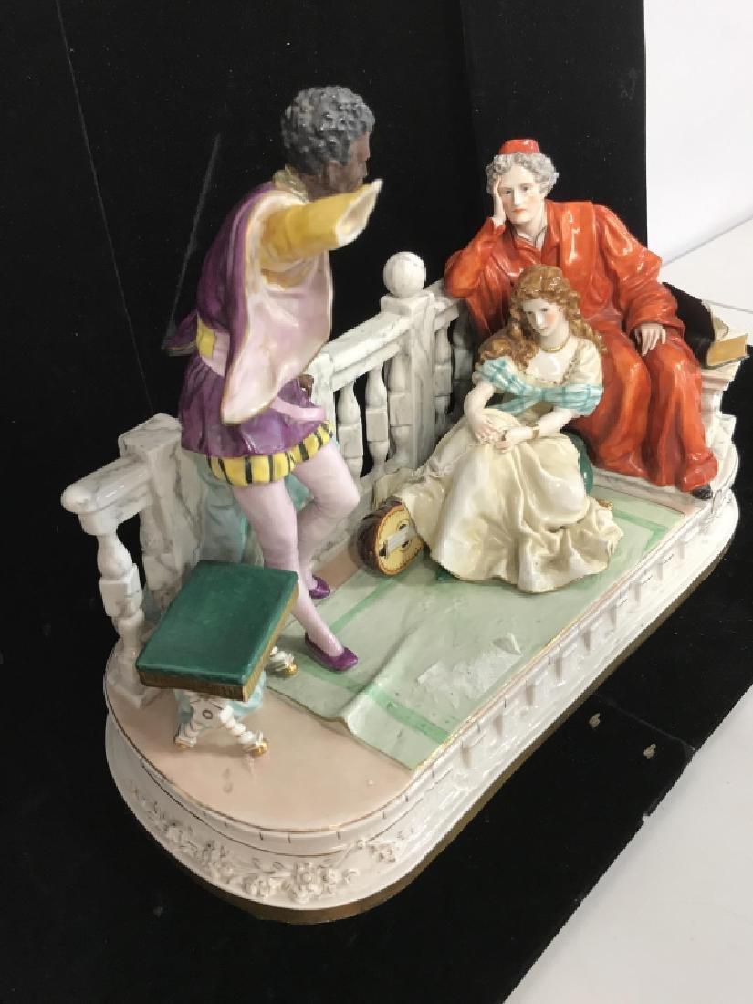 Signed Vintage Porcelain Figural Sculpture - 10