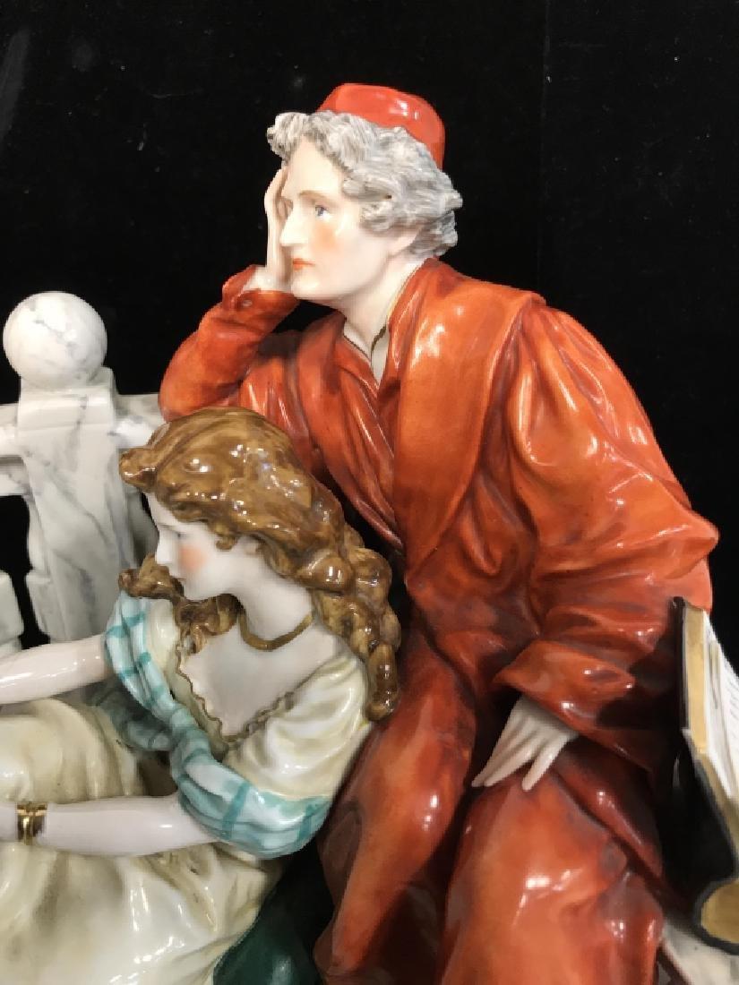 Signed Vintage Porcelain Figural Sculpture