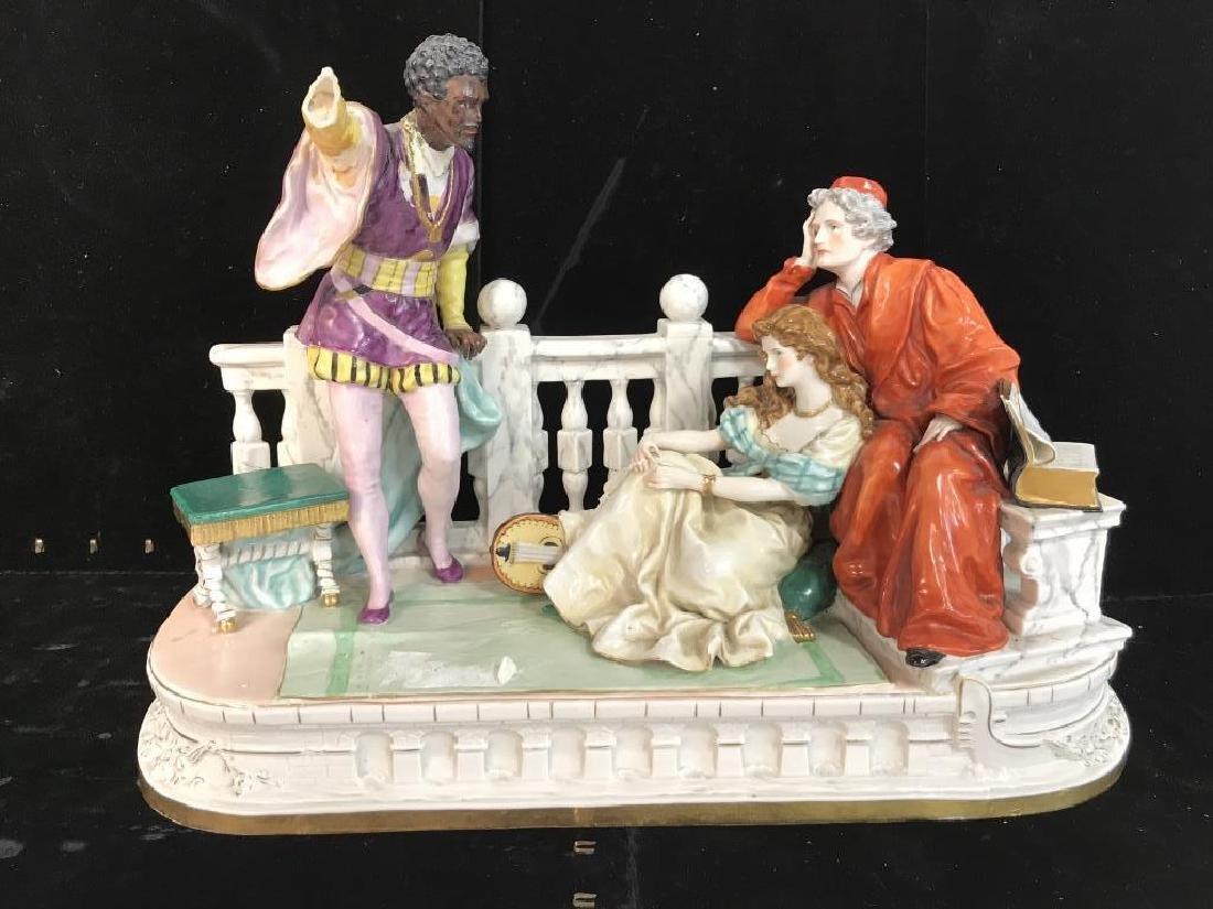 Signed Vintage Porcelain Figural Sculpture - 2